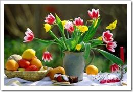 déjeuner fleuri
