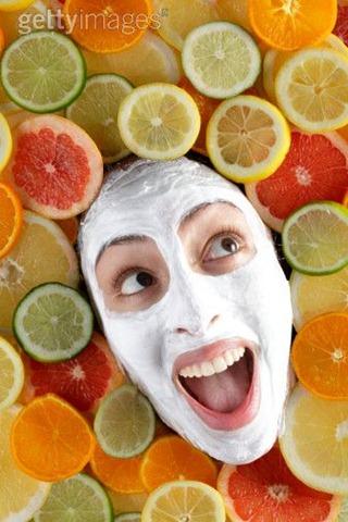 Le masque pour les paupières de la carotte